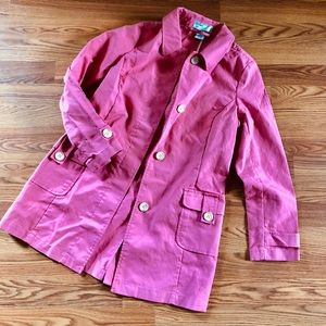 Pink Cotton Rain Trench coat